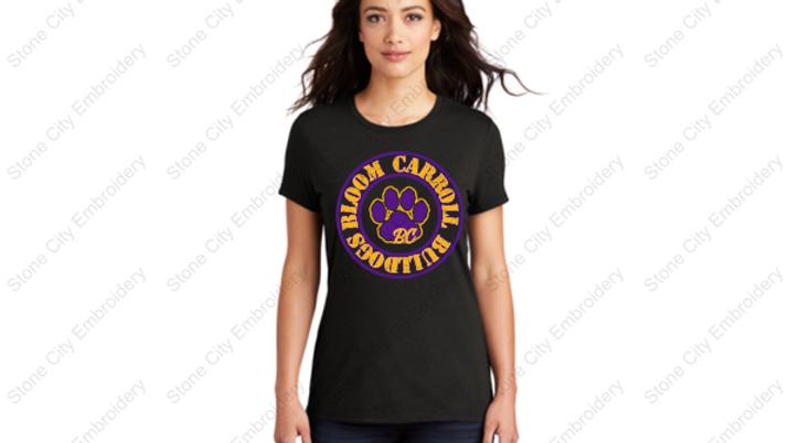 Ladies Crew Neck Perfect Tri T shirt Bloom Carroll Spirit Wear