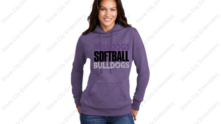 SOFTBALL Core Ladies Fleece Pull Over