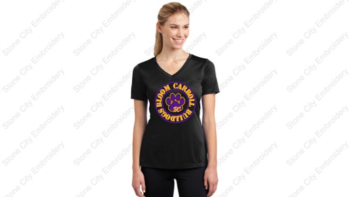 Ladies V neck PosiCharge Performance T shirt
