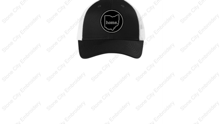 Ohio home. leatherette patch Low Profile Trucker hat