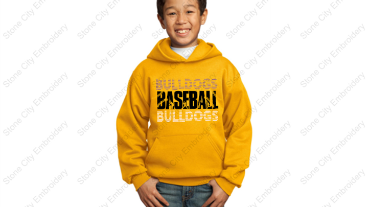BASEBALL Youth Hoodie 50/50 Fleece Bloom Carroll Spirit Wear