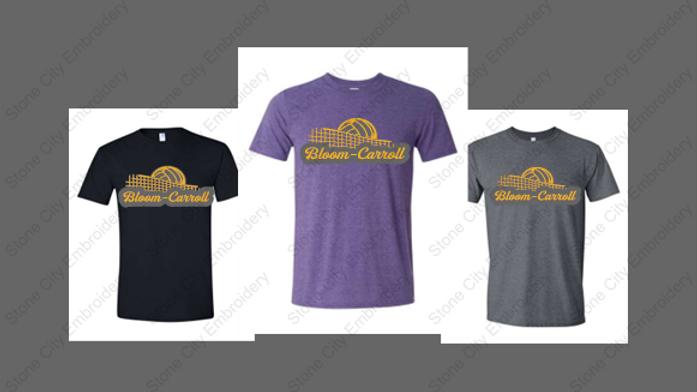 Bloom Carroll Volleyball T shirt