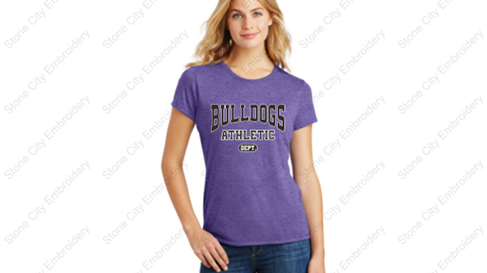 Crew Neck Perfect Tri T shirt Bloom Carroll Spirit Wear