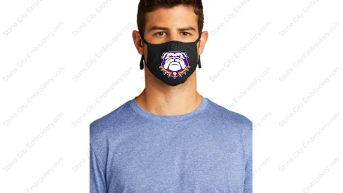 1 Face Mask Performance Polyester Bloom Carroll Spirit Wear