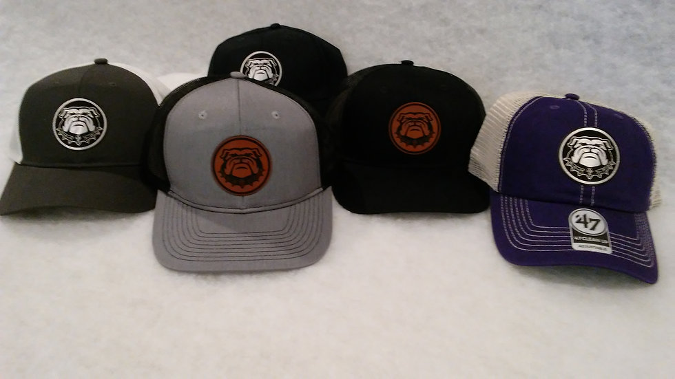 Bulldog BC leatherette patch Low Profile Trucker hat