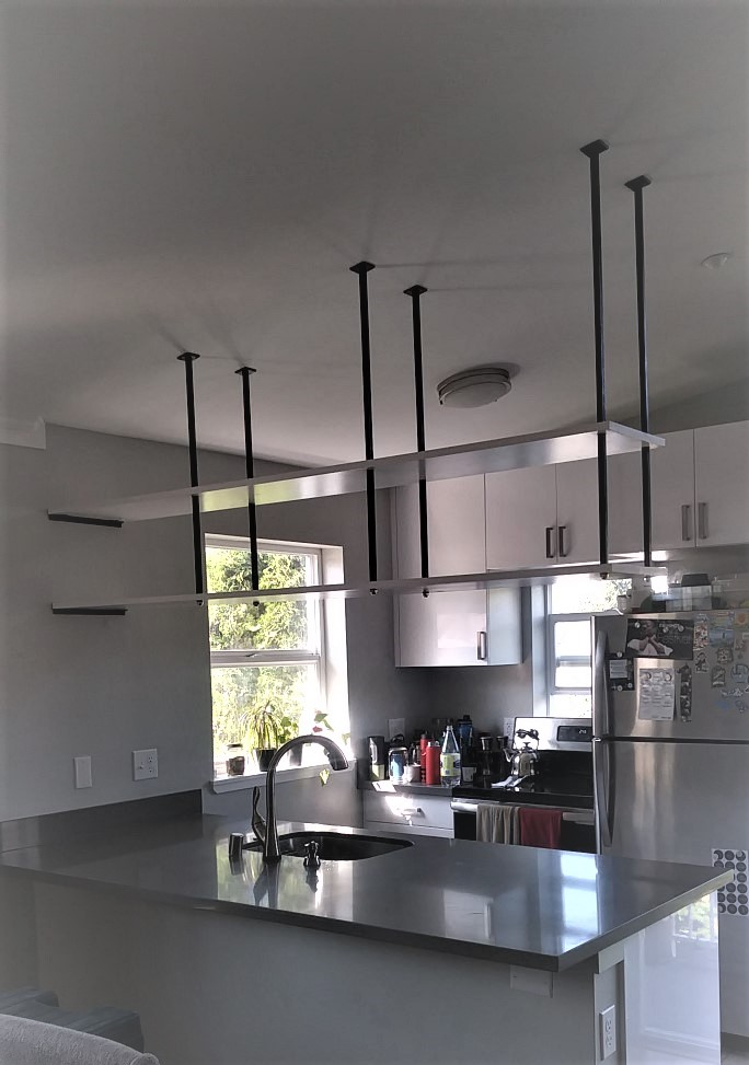 hanging kitchen shelves
