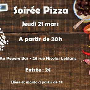Pizza de l'ENVAR au Pépère bar