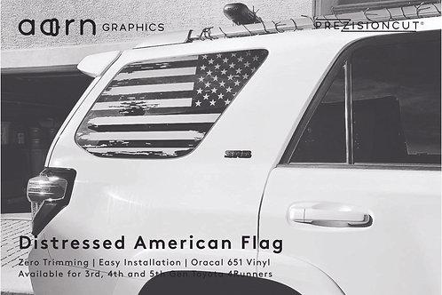 Distressed American Flag PrezisionCut® Toyota 4Runner Vinyl Window Decal