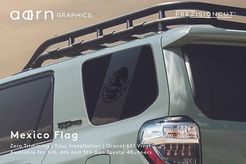 Mexico Flag PrezisionCut® Toyota 4Runner Vinyl Window Decal