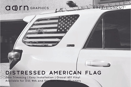 Distressed American Flag PrezisionCut® Toyota 4Runner Vinyl Window Decal