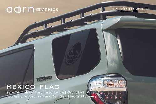 Mexico Flag PrezisionCut® Toyota 4Runner Vinyl Window Decal