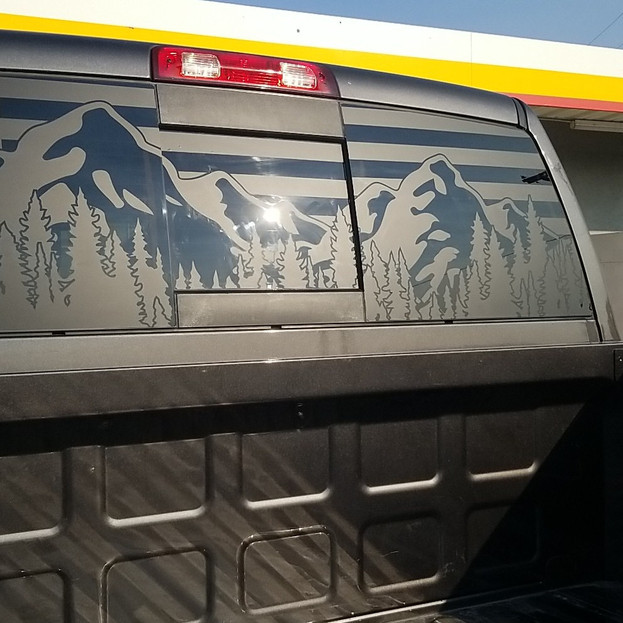 Dodge Rear Window Vinyl Decal