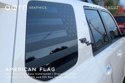 American Flag PrezisionCut® Toyota 4Runner Vinyl Window Decal