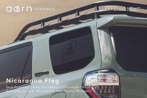 Nicaragua Flag PrezisionCut® Toyota 4Runner Vinyl Window Decal