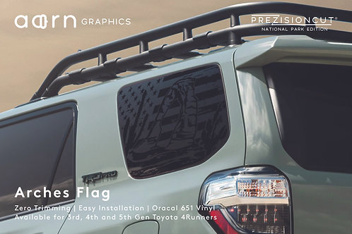 Arches Flag PrezisionCut® Toyota 4Runner Vinyl Window Decal