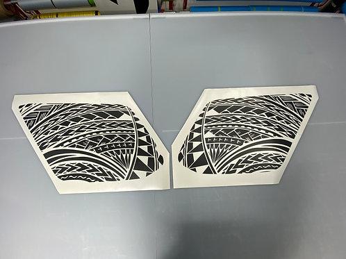 PolyTribal PrezisionCut® Vinyl Window Decal Set