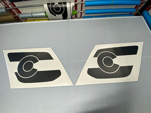 Colorado Flag PrezisionCut® Vinyl Window Decal Set