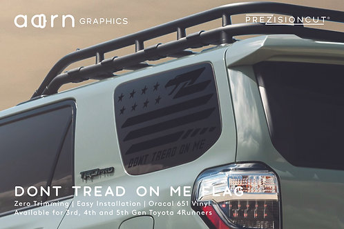 Don't Tread On Me Flag PrezisionCut® Toyota 4Runner Vinyl Window Decal