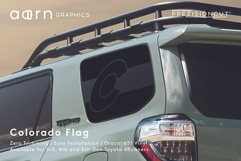 Colorado Flag PrezisionCut® Toyota 4Runner Vinyl Window Decal