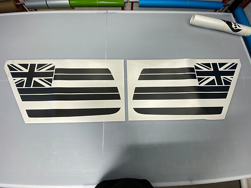 Hawaiian Flag PrezisionCut® Vinyl Window Decal Set