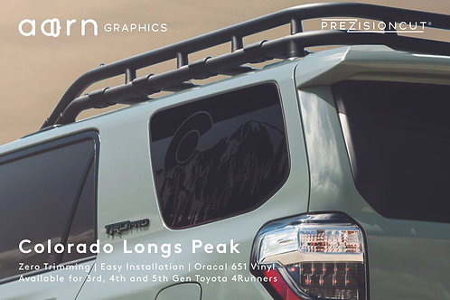 Colorado Longs Peak PrezisionCut® Toyota 4Runner Vinyl Window Decal