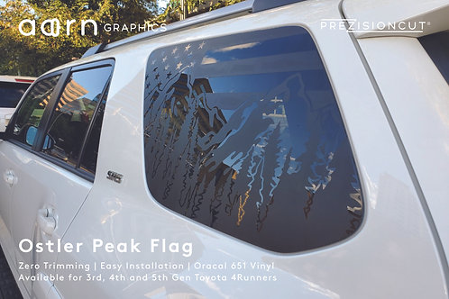 Ostler Peak Flag PrezisionCut® Toyota 4Runner Vinyl Window Decal