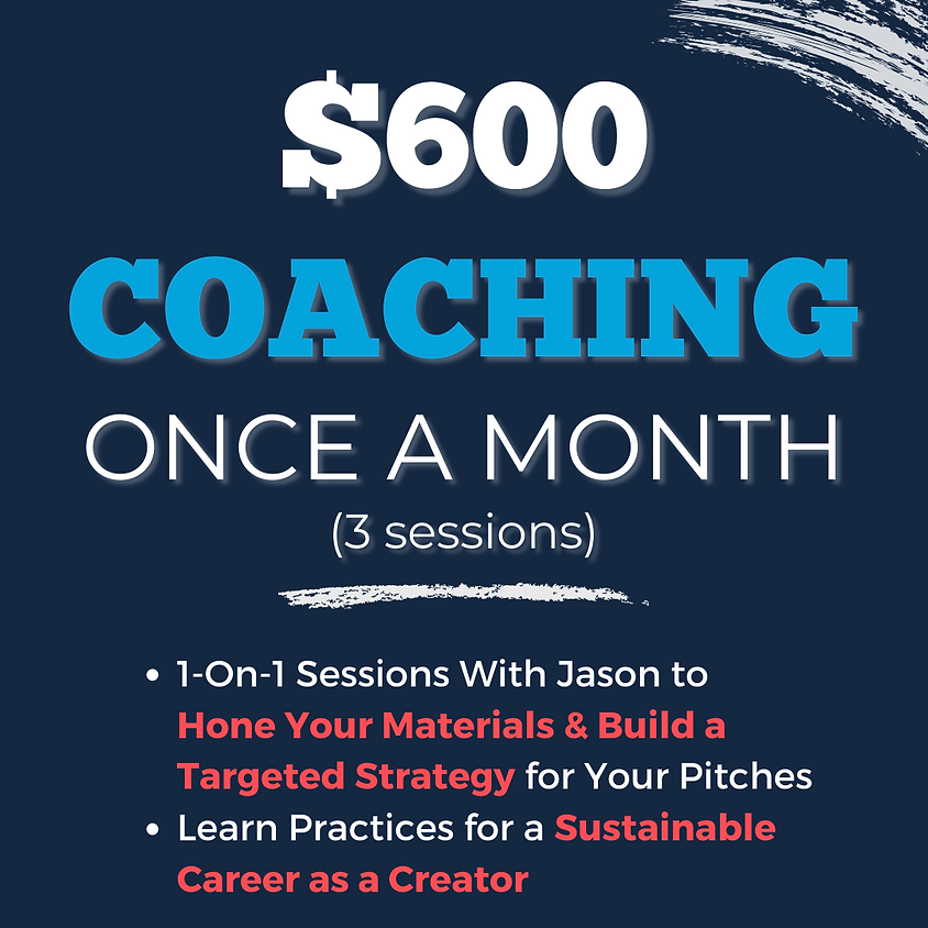 COACHING: ONCE A MONTH (3 sessions)