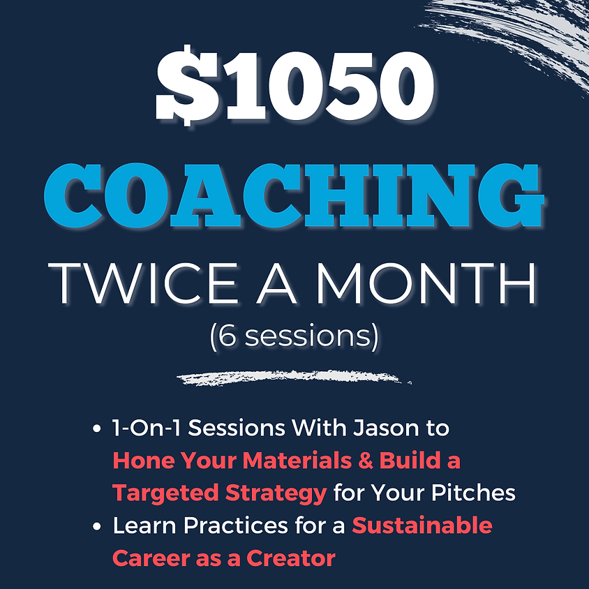 COACHING: TWICE A MONTH (6 sessions)