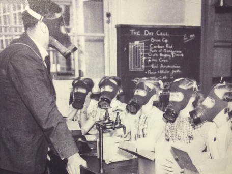 WHY GAS MASK DRILLS BROUGHT GIGGLES