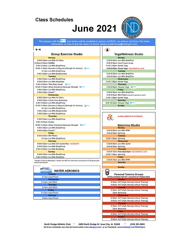 June 2021 Class Schedule - Colums-page-0