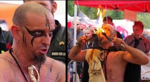 Fakir Viking, spectacles fakir,