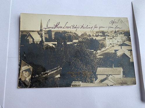 Almont, MI - Ladies Photo Glued to Lower Left 1907