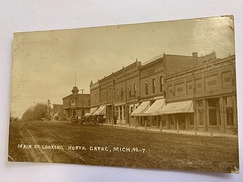 Capac, MI - Main Street Looking North 1912