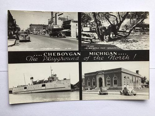 Cheboygan, MI - 4 Views of Town - 1946