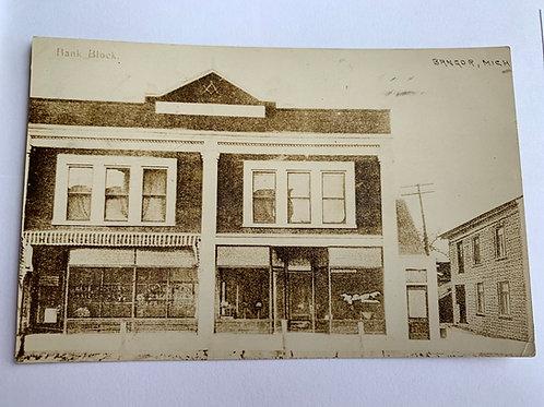 Bangor, MI - Bank Block 1909