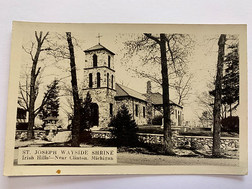 Clinton, MI - St. Joseph Wayside Shrine Rare Location