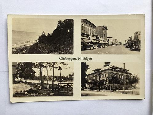 Cheboygan, MI - 4 Views of Town
