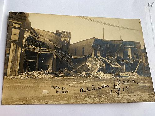 Albion, MI - 1908 Flood Damage
