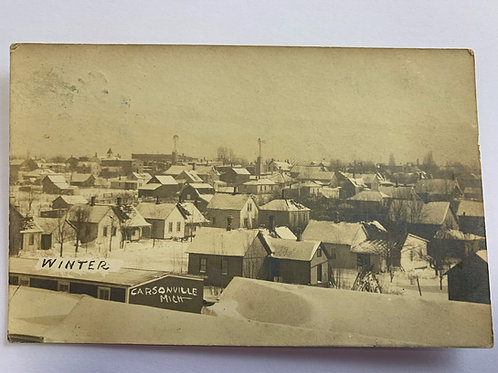 Carsonville, MI - Winter View of town