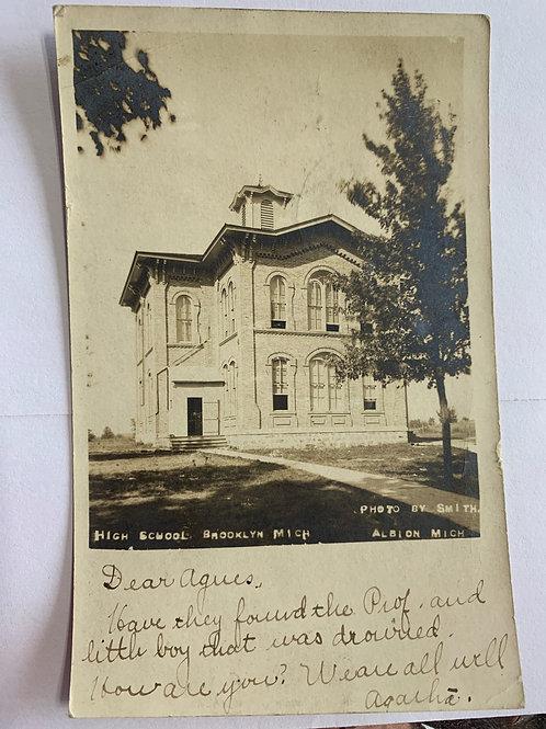 Brooklyn, MI - High School 1907