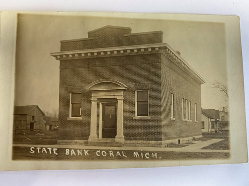 Coral, MI - State Bank - 1914