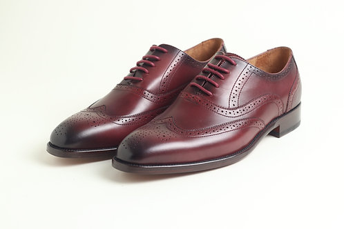 Burgundy Leather Business Shoes