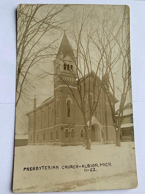 Albion, MI - Presbyterian Church in Winter