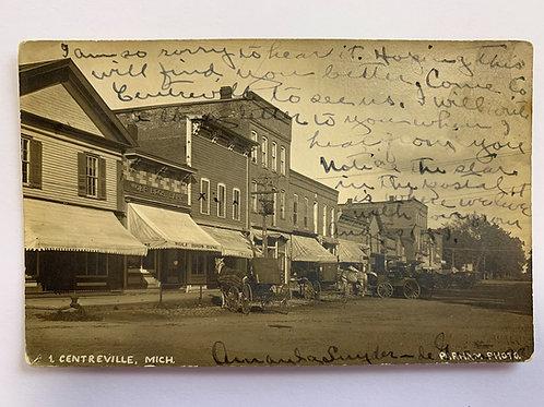 Centerville, MI - Main Street - 1909