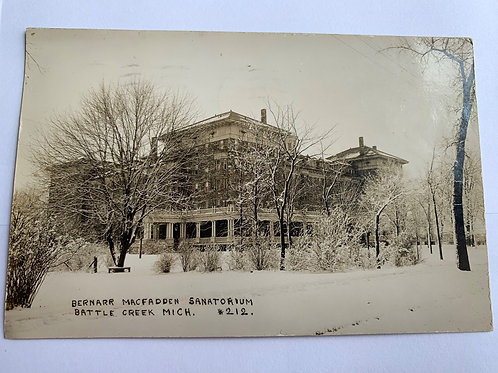 Battle Creek, MI - Bernarr Macfadden Sanitarium 1909