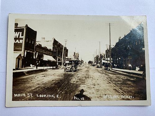 Belding, MI - Main Street Looking East 1911