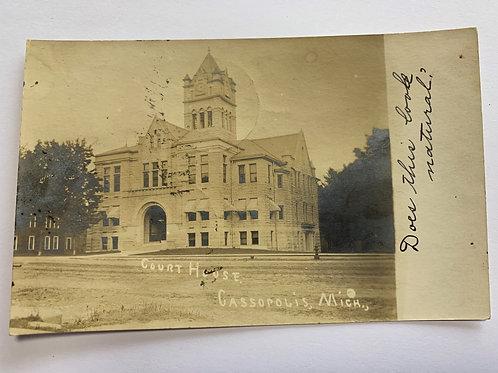 Cassopolis, MI - Court House - 1911