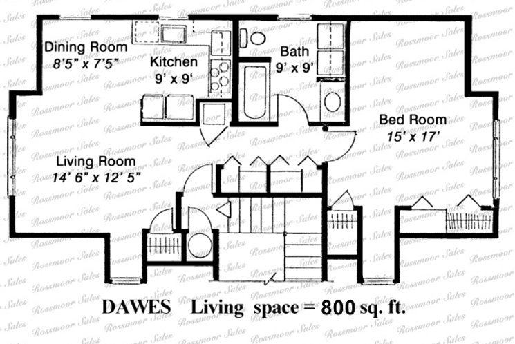 234-A Floor Plan | Rossmoor Sales
