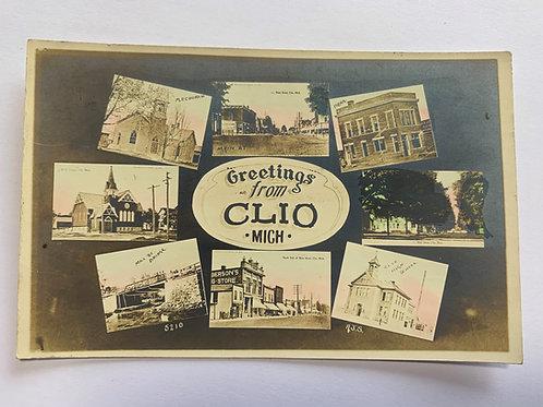 Clio, MI - 8 Views of Town