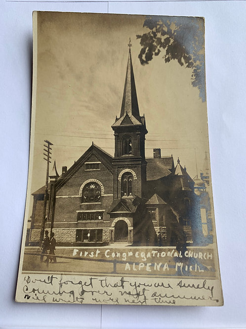 Alpena, MI - First Congregational Church 1908
